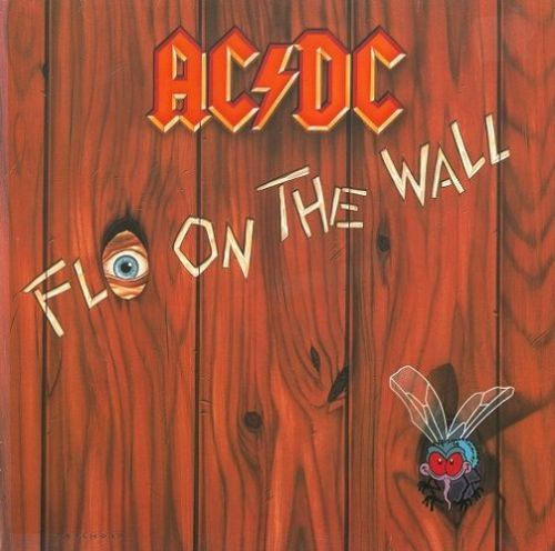 AC/DC Fly On The Wall Vinyl Record LP German Atlantic 1985
